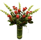 Tradional Dozen Red Roses Tall from Apples to Zinnias, the Gifted Florist in Dallas, Texas