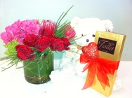 Valentine Trio from Apples to Zinnias, the Gifted Florist in Dallas, Texas